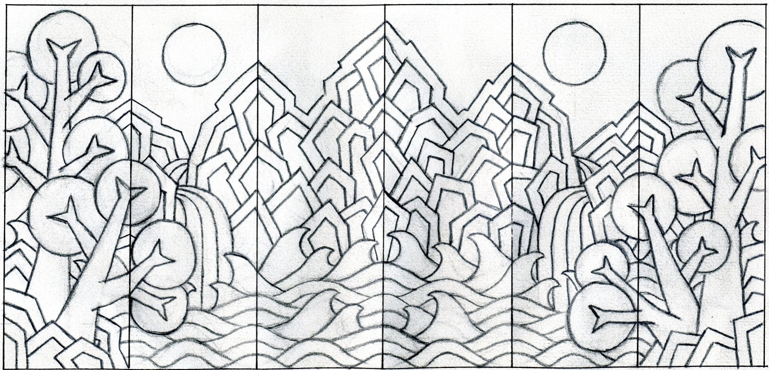 Sun Moon Drawings Sun Moon And The Five Peaks